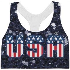 Red White & Blue Stars & Stripes USA