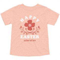 Floral Toddler Happy Easter