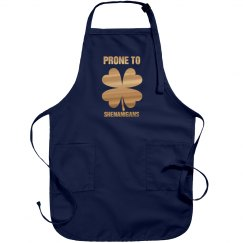 Metallic Irish Shenanigans Apron
