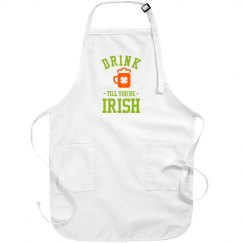 Metallic Irish Drunk Apron