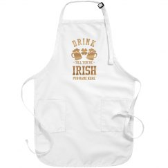 Custom Metallic Drunk Irish Apron