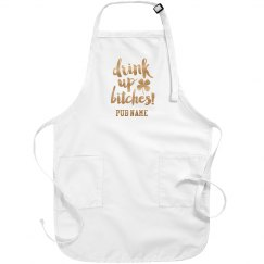 Custom Metallic Drink Up Pub Apron