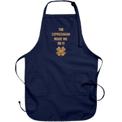 Metallic Leprechaun's Fault Green Apron