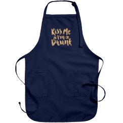 Metallic Kiss Me Irish Apron