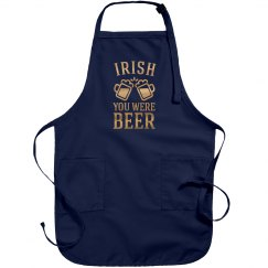 Metallic Irish You Were Beer Apron