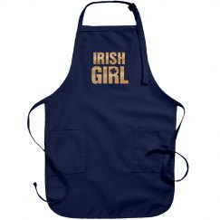 Metallic Irish Girl Green Apron