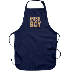 Metallic Irish Boy Green Apron