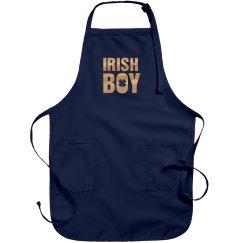 Metallic Irish Boy Green Apron