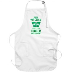 Custom Metallic Green Pub Apron