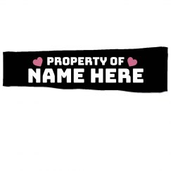 Property Of Name Here Sleeve
