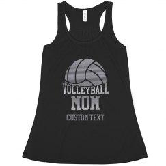 Custom Silver Metallic Volleyball Mom