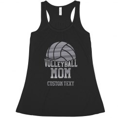 Custom Silver Metallic Volleyball Mom