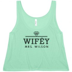 Wifey Logo With Diamond