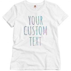 Custom Glitter Text Shirts