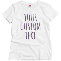 Custom Glitter Text Shirts