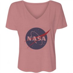 Ladies Flowy Slouchy V-Neck Tee