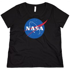 Nasa Curvy Plus Sized Tee
