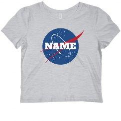Custom Name Nasa Crop Top