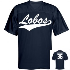 Lobos custom name and number sports jersey