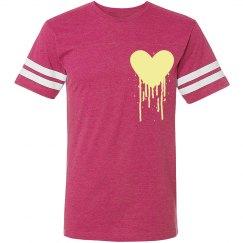 Bleeding heart tee pink