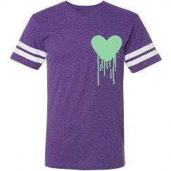 Bleeding hearts tee purple