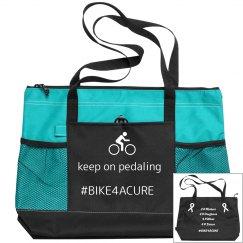 Bike for a Cure - canvas zipper bag