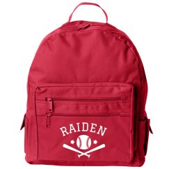 Customizable Baseball Back to School Sports Backpack
