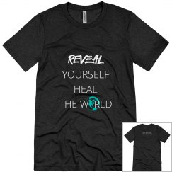 Reveal Yourself Triblend T-shirt - White/Turquoise