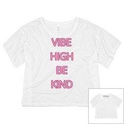 Vibe High Be Kind Crop Tee