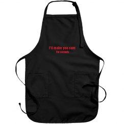 Make you cum for seconds apron