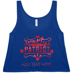 Metallic Red July 4th Party Patriot