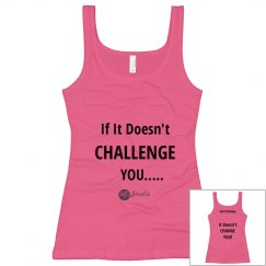 VFit Fitted Tank - Challenge = Change