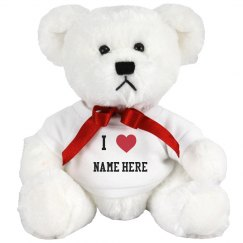 I Heart Customizable Teddy Bear