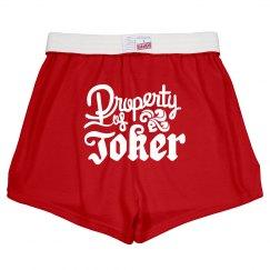 Property Of Joker Costume Shorts