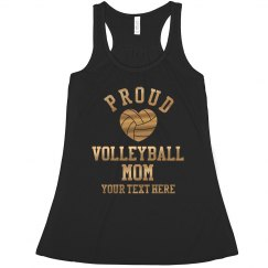Metallic Gold Volleyball Mom