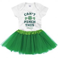 Can't Pinch This St. Patrick's Baby Onesie & Tutu