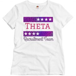 Theta Recruitment Team shirt