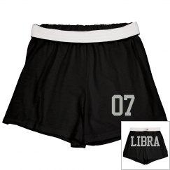 Libra Sporty Zodiac Cheer Shorts