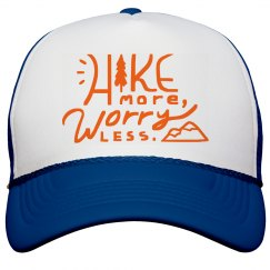 Hike more worry less hat