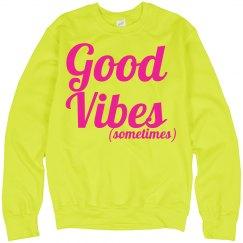 Good vibes sweatshirt yellow
