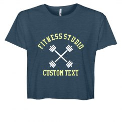 Fitness Studio Custom Crop Tee