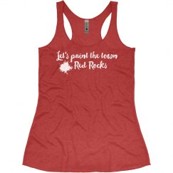 Let's Paint the Town Red Rocks Tank