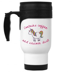 Unicorn dust travel mug
