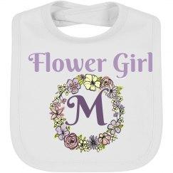 Monogram Flower Girl Baby Bib
