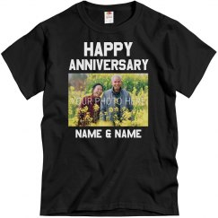 Custom Happy Anniversary Group Tees