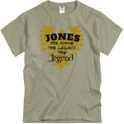Jones. The Legend