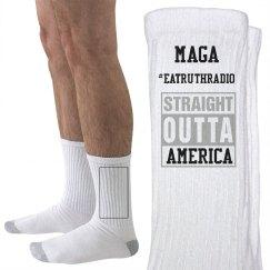 MAGA Straight Outta America Hanes Socks