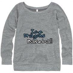 #30-Ladies Wideneck Sweatshirt-Alternative Apparel Bran