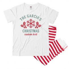 Customizable Holiday Family Pajamas