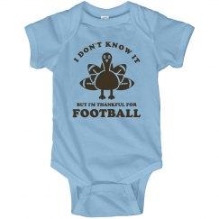 Thankful Football Baby
